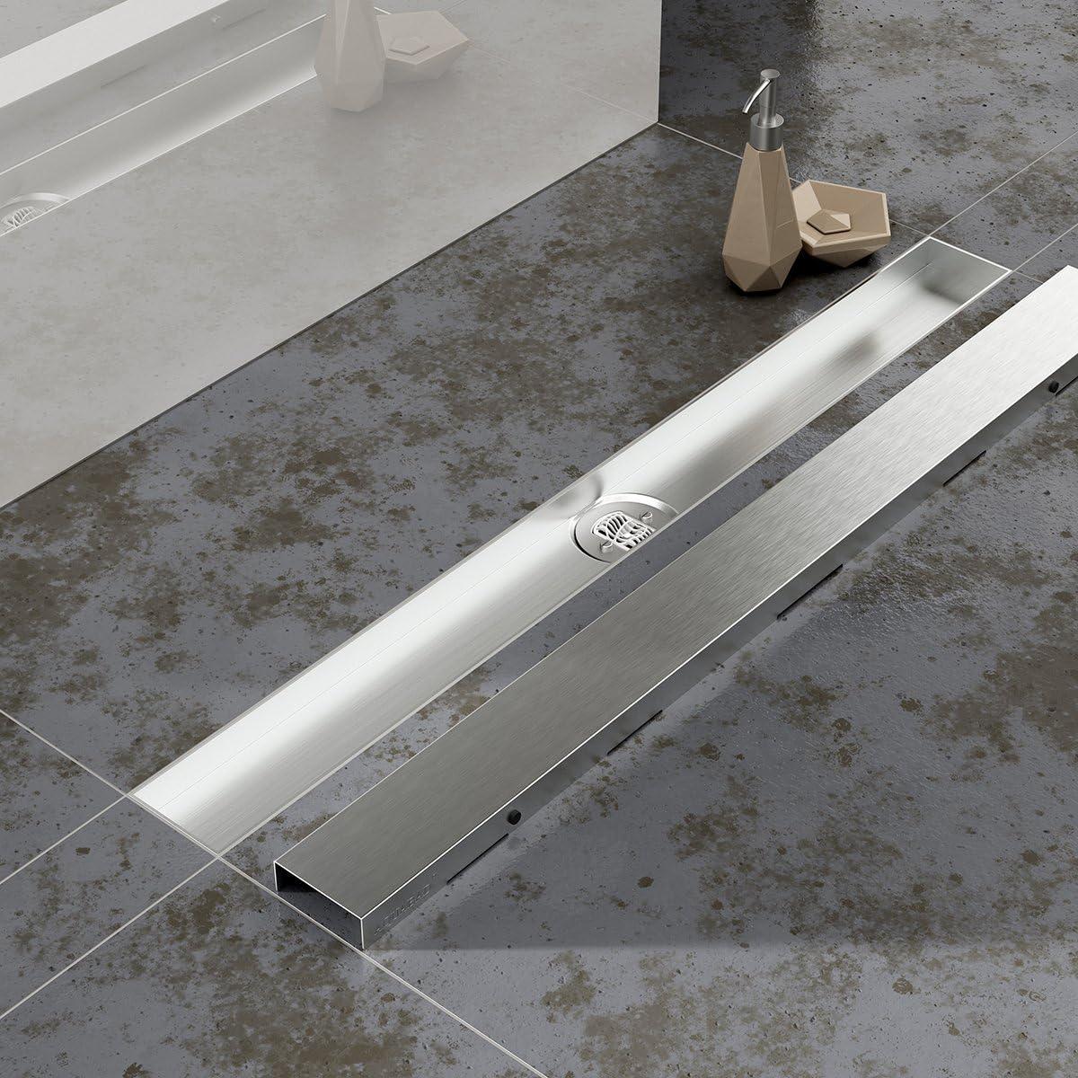 """// L/änge: 60 cm aus Edelstahl//Design: /""""BORD/"""" Rost einzeln! Abdeckung f/ür Duschrinne AQUABAD/® SDS Pro"""