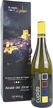 Estuche 1 botella OLE DE PASSION- Vino Blanco Macabeo 75cl- Añada 2017 D.O.Manchuela