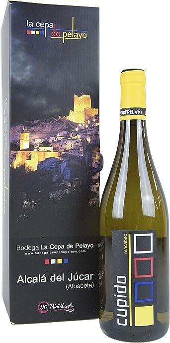 Estuche 1 botella CUPIDO- Vino Blanco 75cl- Añada 2017 D.O.Manchuela: Amazon.es: Alimentación y bebidas