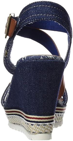 Refresh 64292, Sandalias con Punta Abierta para Mujer, Azul (Navy), 37 EU: Amazon.es: Zapatos y complementos