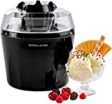 Andrew James Ice Cream Maker Machine | Makes Delicious Soft Ice Cream | Detachable Mixing Paddle | 1.5L | Voted Best Buy by Which? Magazine | Black