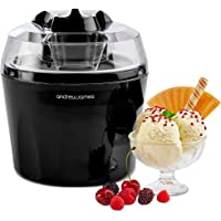 """Andrew James Ice Cream Maker Machine with Detachable Mixing Paddle 1.5L - Makes Gelato Frozen Yoghurt & Sorbet Machine - Voted""""Best Buy"""" by Which? Magazine"""