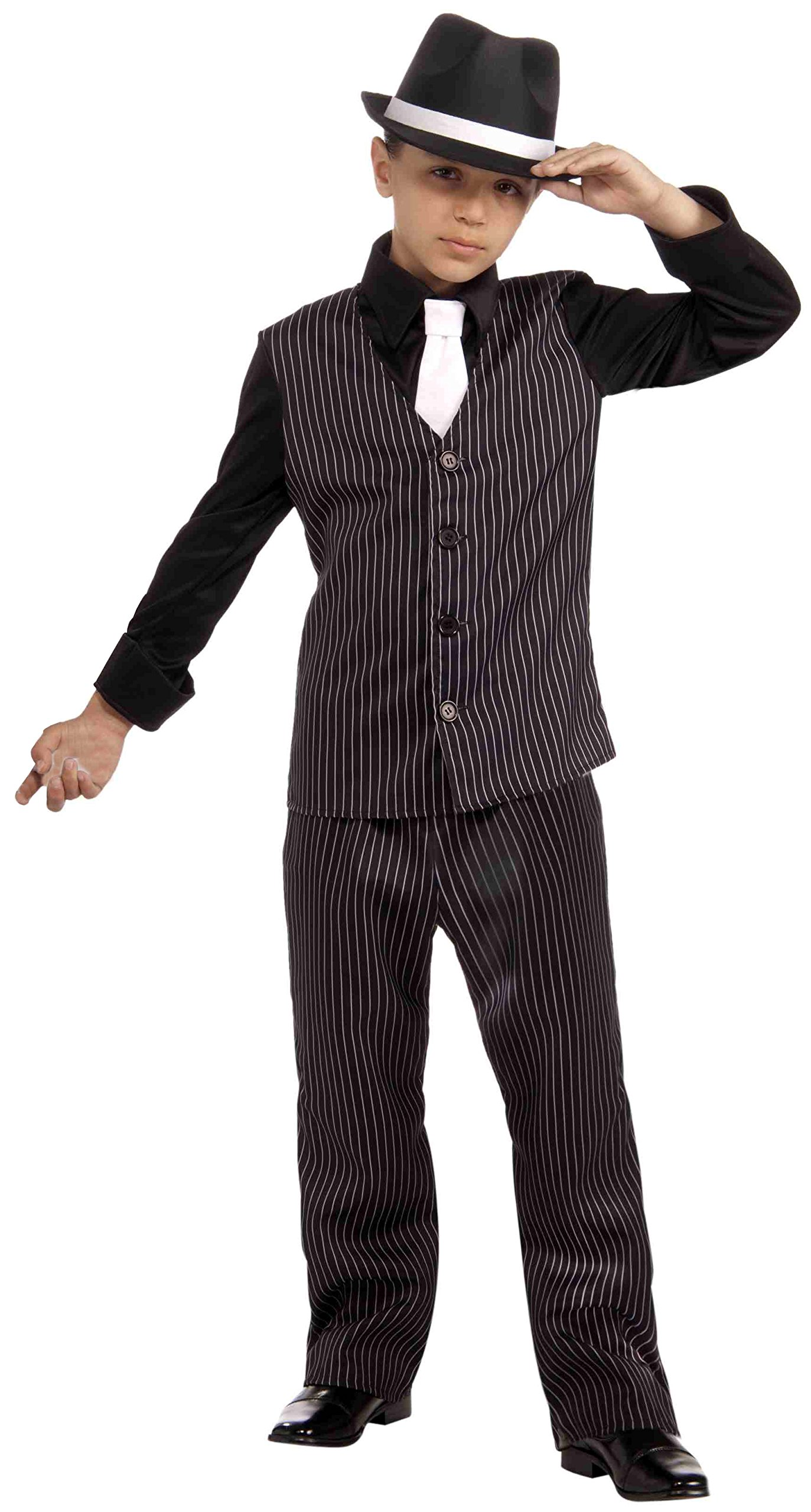 Forum Novelties 20's Lil' Gangster Child Costume, Large