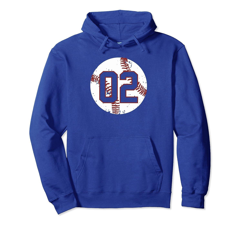 Vintage Baseball Number 02 Hoodie Shirt Softball Mom Gift-alottee gift
