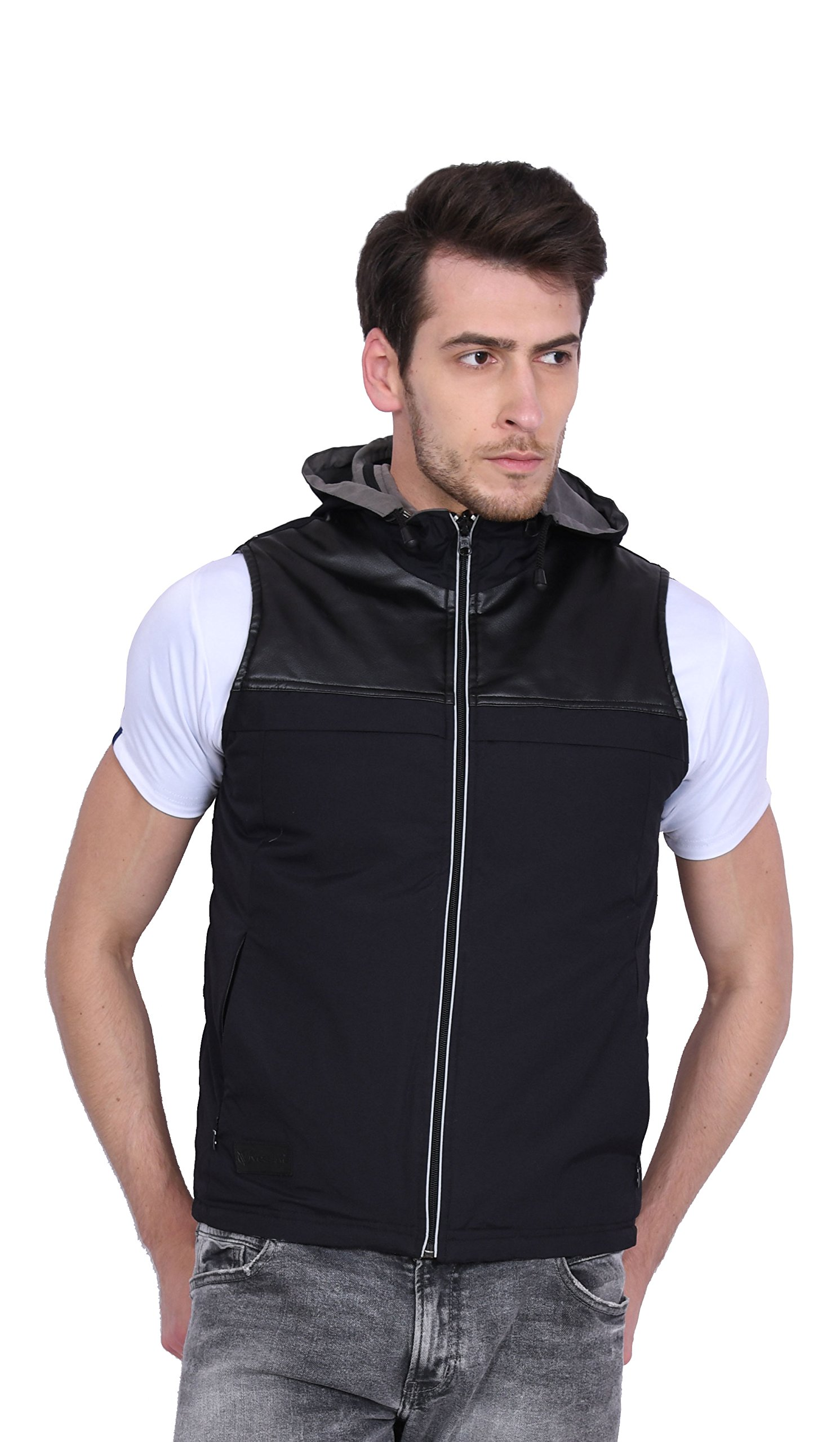 Versatyl- Reversible Sleeveless Travel Jacket-Vest for Men and Women with 11 Hidden Pockets & RFID Protection (Black, XXXL)