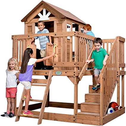 Backyard Discovery 1605336 Scenic Heights All Cedar Playhouse on free treehouse plans blueprints, free playhouse blueprints, free raised garden plans, elevated clubhouse plans, free raised deck plans, outdoor fort plans, free raised planter plans,