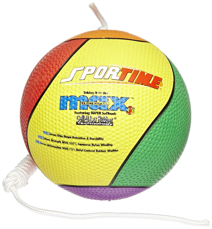 precios bajos Sportime Max Tether - Pelota con cuerda de nailon (tamaño (tamaño (tamaño y peso oficiales), multicolor  Ahorre 60% de descuento y envío rápido a todo el mundo.