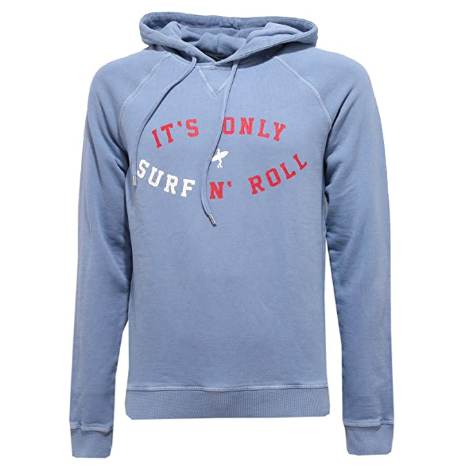 DSQUARED2 4467R Felpa Uomo D2 Felpe Azzurra Sweatshirt Man  Amazon.it   Abbigliamento 4d9d81e45000