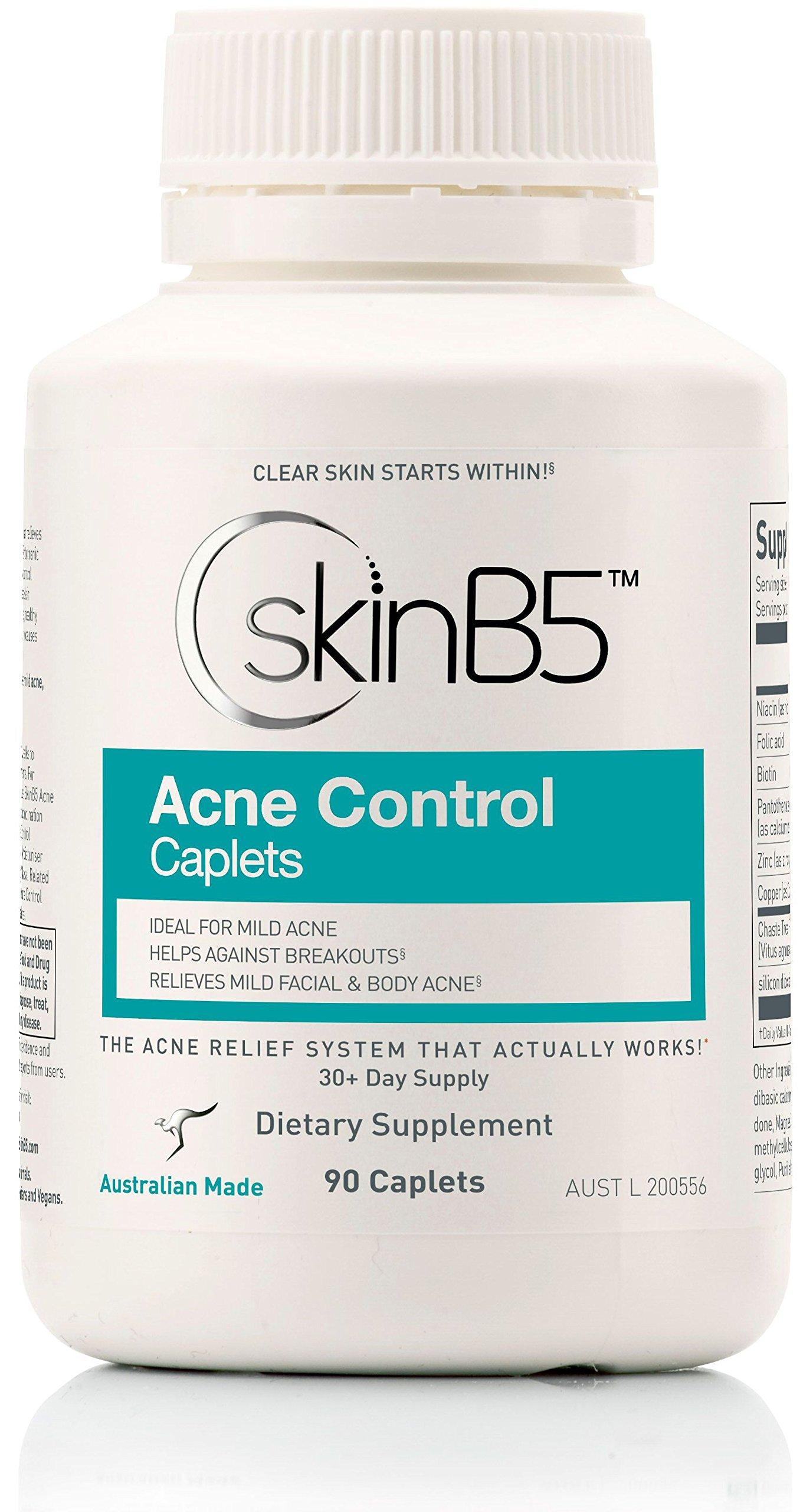 SkinB5 Acne Control Skin Care Treatment, Caplets, 90 caplets