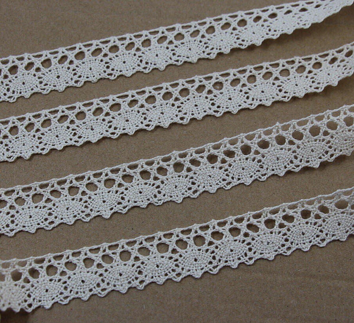 Lace Cotton Ribbon Trim Pattern Gift Wrap Decor Ideas 15 Yard Roll