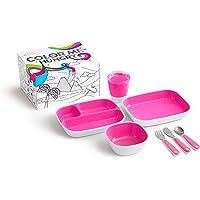 Munchkin - Set de vajilla para niños, rose