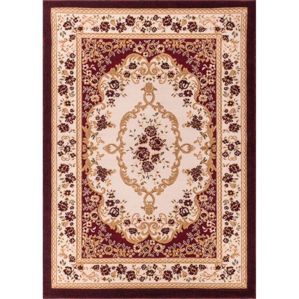 Well Woven 18308 Bingo Dulcet Traditional Area Rug, 9'3'' x 12'6'', Red by Well Woven