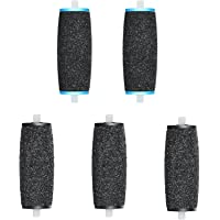 JOREST [5 Pcs] Electronic Foot File Refills, 3 Extra Coarse & 2 Regulart, Replacement Roller for Foot Scrubber Callus…