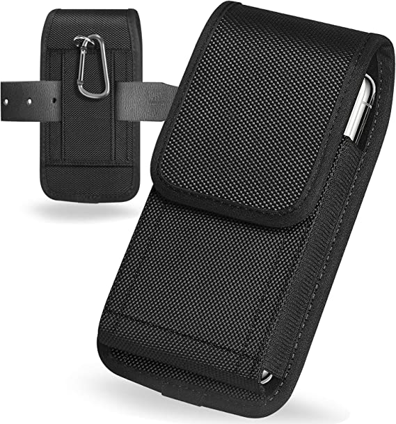 ykooe Cell Phone Pouch Nylon Holster Case with Belt Loops Compatible Samsung Galaxy S20 S21 Plus Note 20 Ultra A21 A11 A12 A71 A72 A52 A32 S10 Lite Note 9 8 LG Stylo 6/K51, Moto/Google (X-Large)