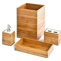 Seville Classics Bamboo Bath and Vanity Set