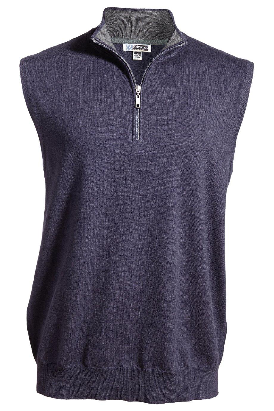Edwards Garment Men's Lightweight Cotton Comfort Rib Knit Collar Vest