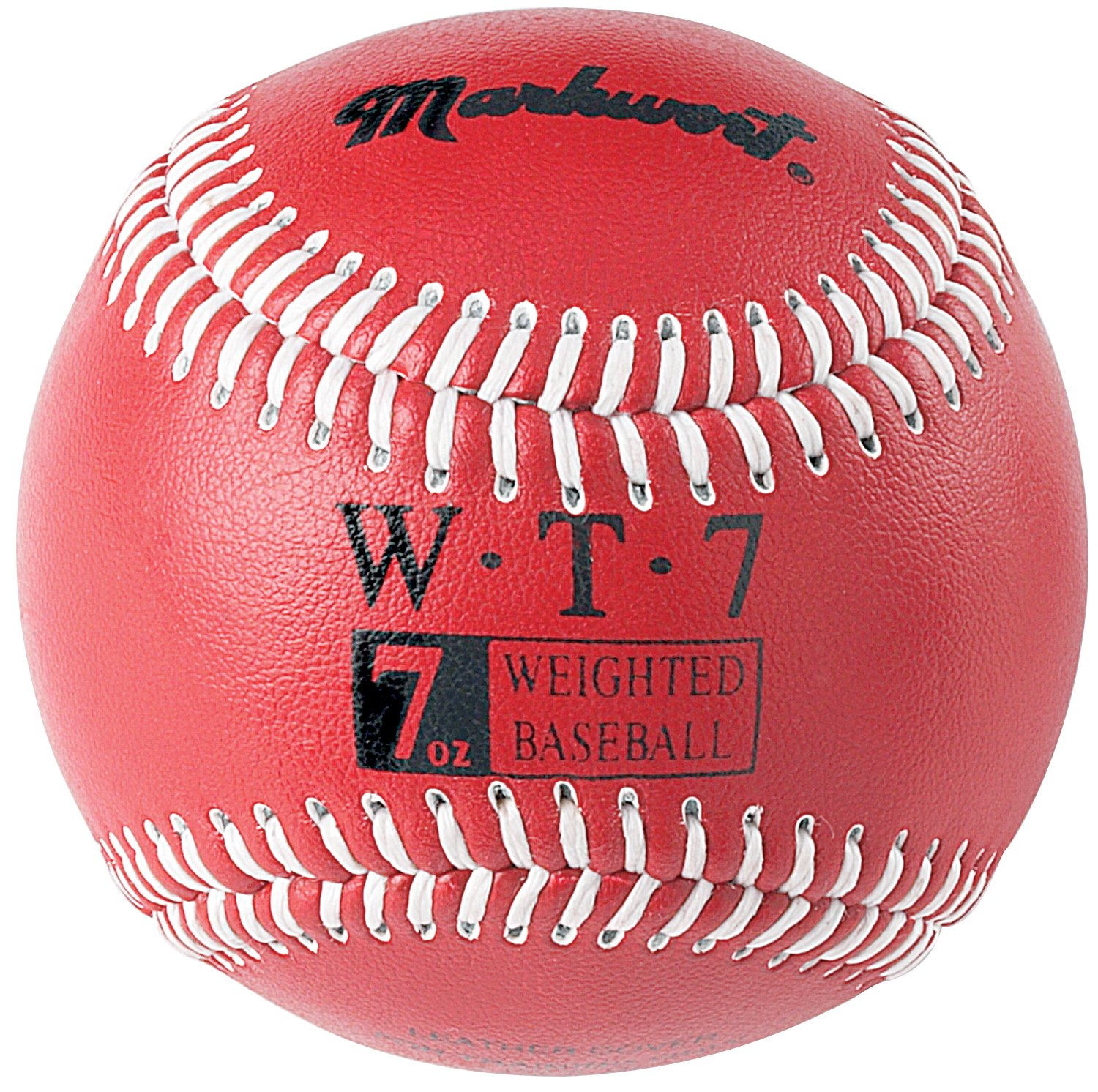 Markwort Weighted 9-Inch Baseballs-Leather Cover (Individually Boxed), Black WT12
