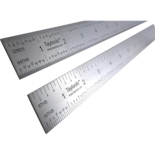 "Stainless 10 Each Taytools 12/"" Machinist Ruler Rule 4R 8th 16th 32th 64th"