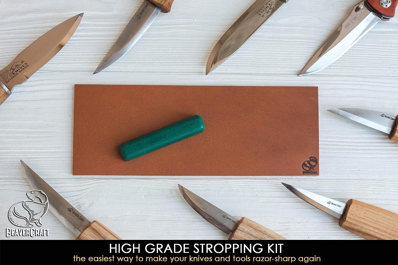 Amazon.com: Cuchillos de afilar de cuero, de doble cara, de ...