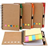 TOODOO 4 Packs Spiral Notebook Lined Notepad with