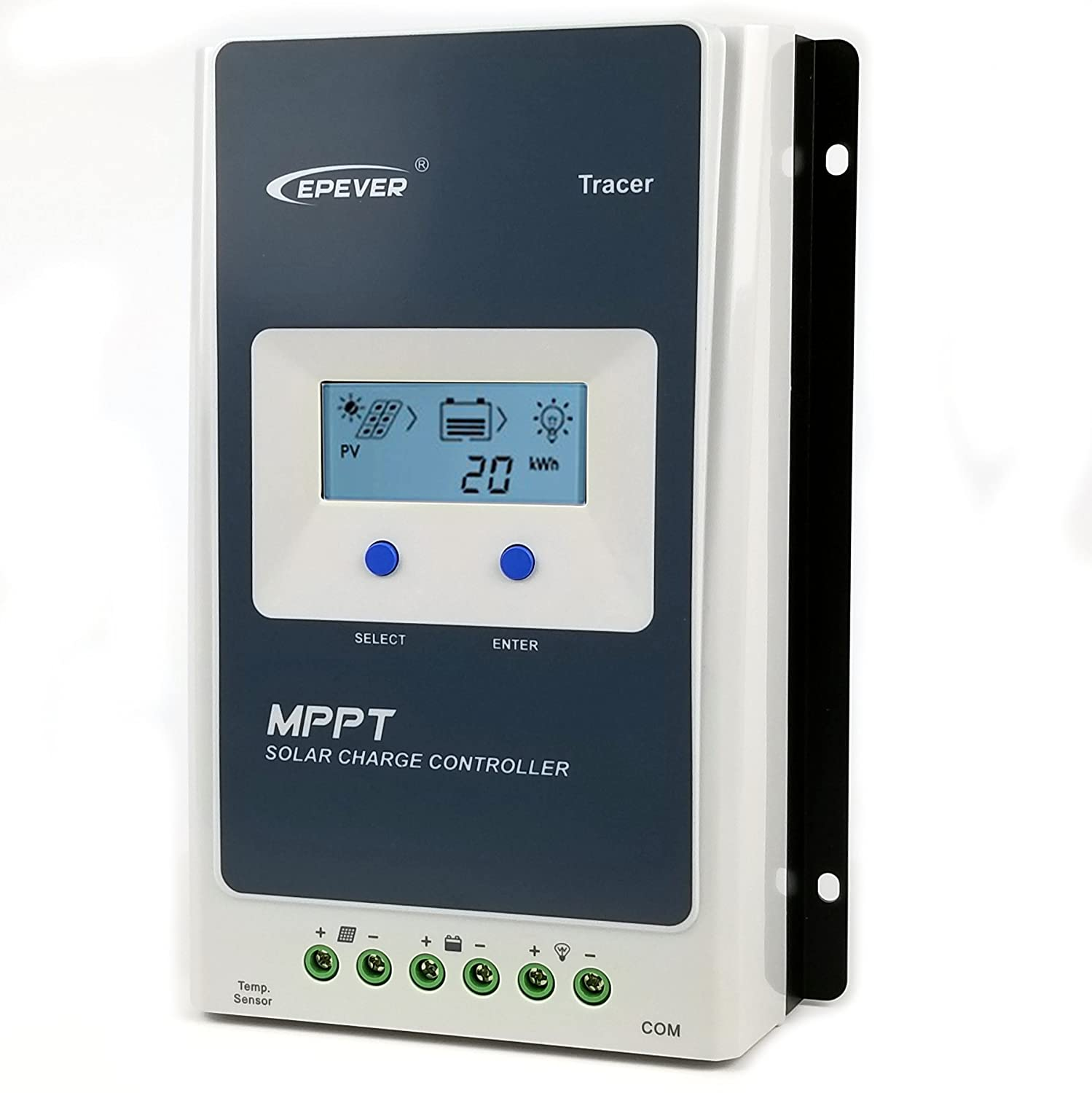 30A MPPT Solar Charge Controller 2018 100V PV Input Support Lithium Battery Charging Backlight LCD Negative Ground 12V 24V Auto 780W Solar Panel Charge Regulator Tracer 3210AN epever
