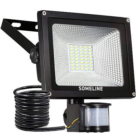 d7fa06fa90501 Security Light with Motion Sensor Lights Outdoor Pir Floodlight 20W  SOMELINE Led Security Lights Floodlights with Sensor.  Energy Class A++