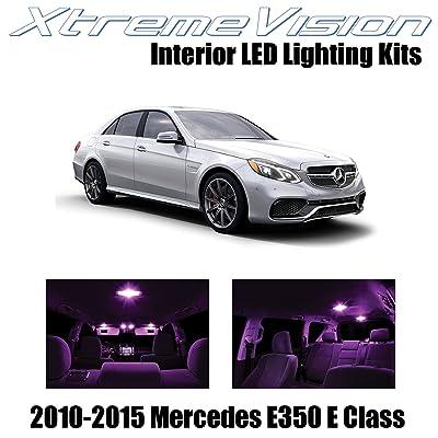 Xtremevision Interior LED for Mercedes E350 E550 E63 AMG E Class Sedan 2010-2015 (7 Pieces) Pink Interior LED Kit + Installation Tool Tool: Automotive [5Bkhe1008846]