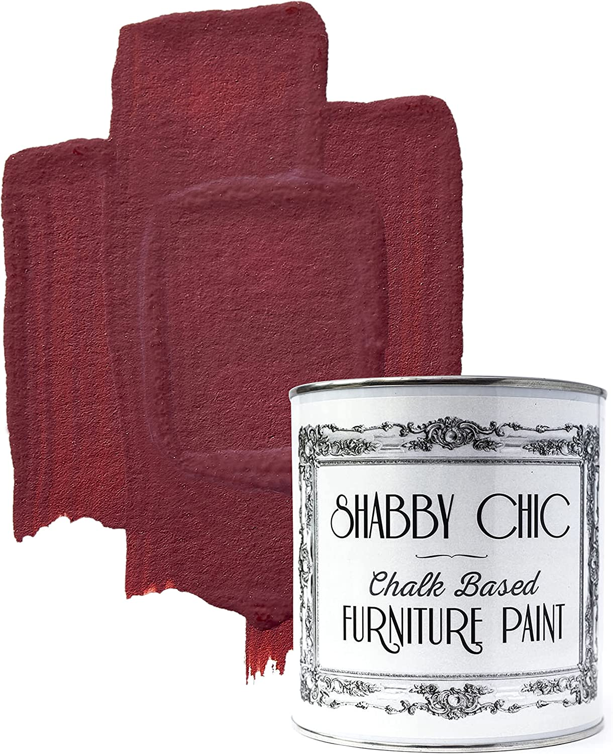 Shabby Chic Chalked Furniture Paint: Luxurious Chalk Finish Furniture and Craft Paint for Home Decor, DIY Projects, Wood Furniture - Interior Paints with Rustic Matte Finish - Liter - Nautical Red