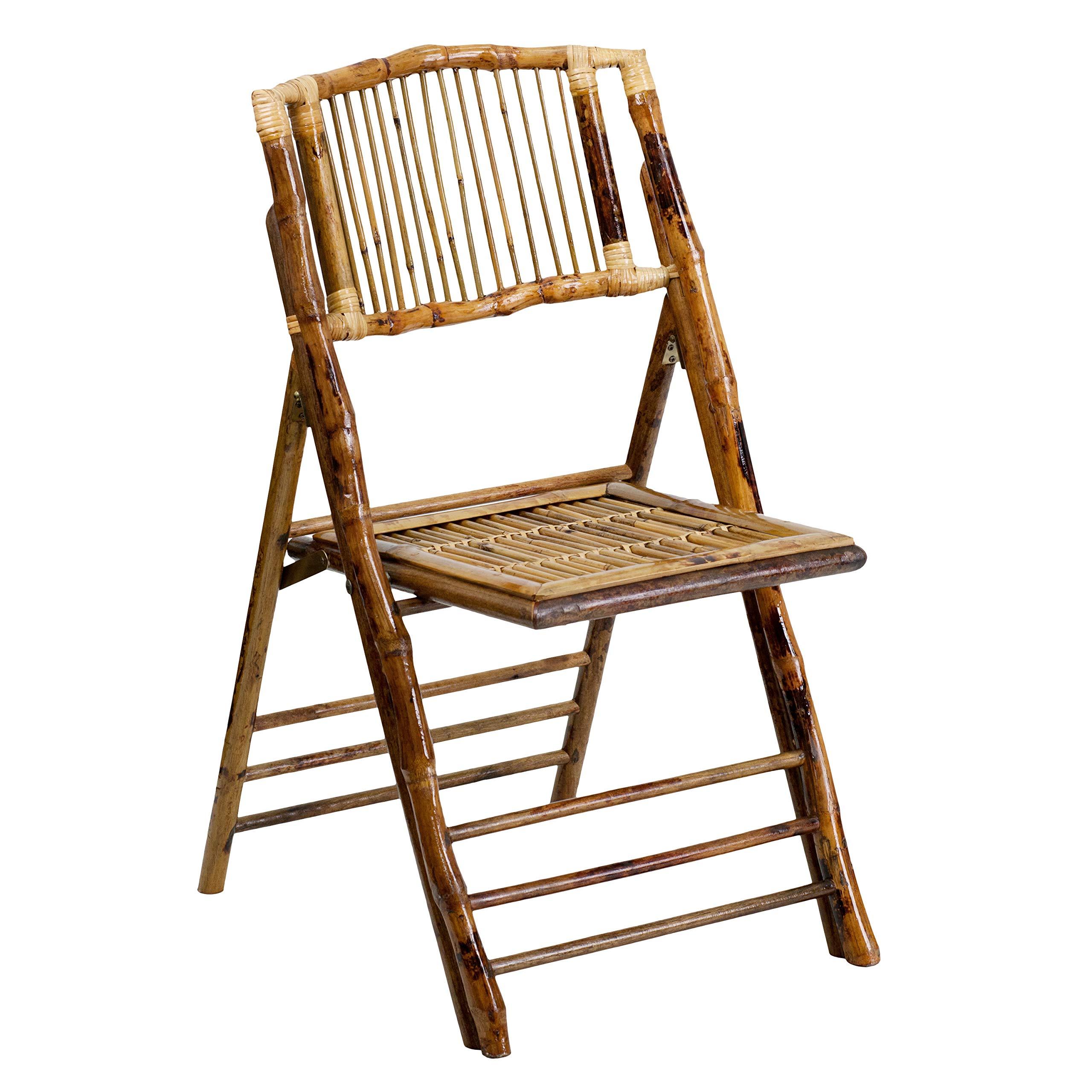 Flash Furniture American Champion Bamboo Folding Chair by Flash Furniture
