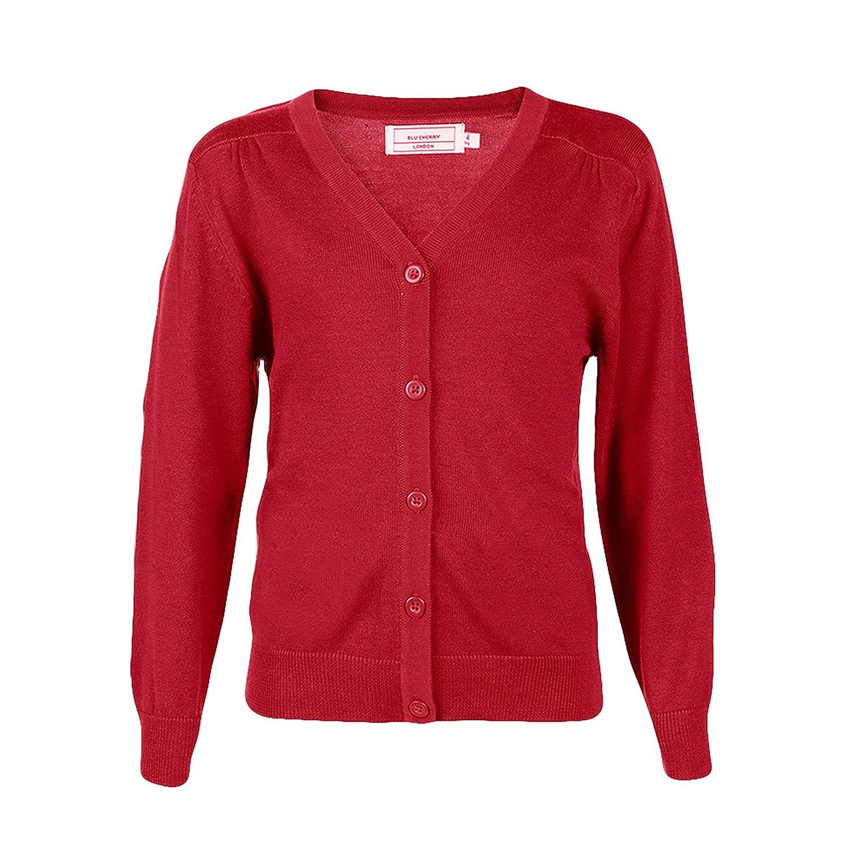 Blu Cherry Girls Cardigans V-Neck School Uniforms Long Sleeve All Year Around