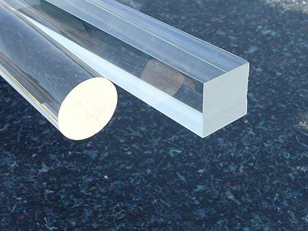 Barre ronde acrylique plexiglass /Ø 20 mm longeur 1000 mm transparente