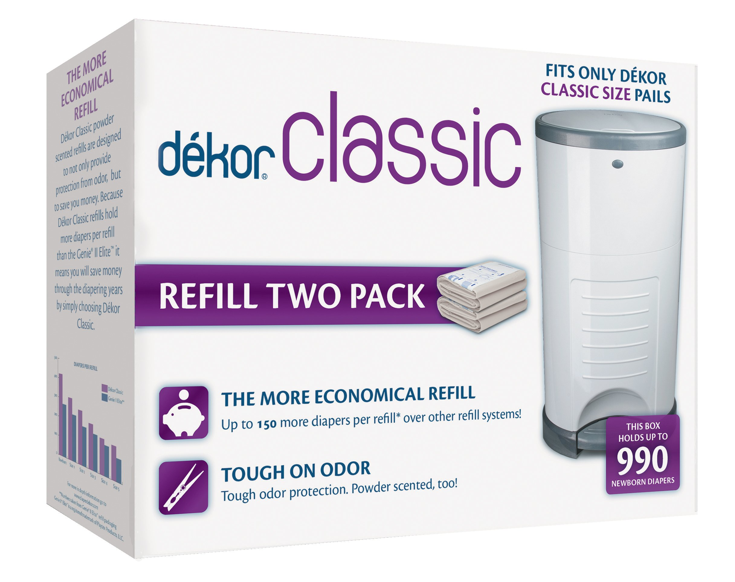 Dekor plus refill two count baby for Dekor plus refills