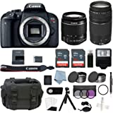 Canon EOS Rebel T7i Bundle with EF-S 18-55mm is STM & EF-S 75-300mm III Lens + Canon T7i Camera Advanced Accessory Kit…