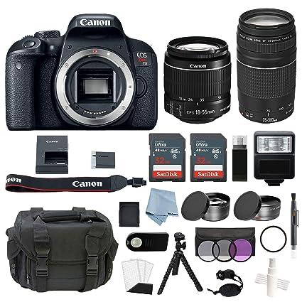 Canon EOS Rebel T7i DSLR Bundle cámara para Deporte de acción ...