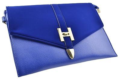 FiveSeasonStuff Large Envelope Clutch/Shoulder/Purse in Royal Blue ...