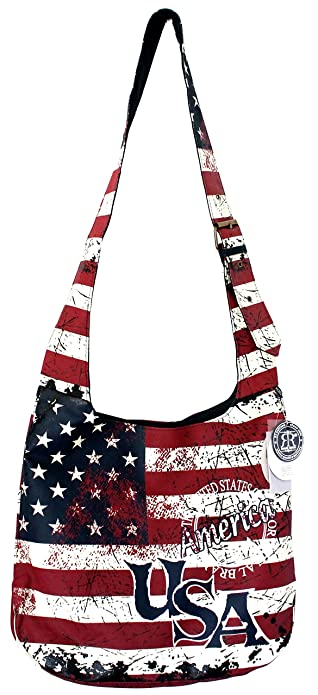 f622df6f8d6f Robin Ruth USA Vintage Flag Crossbody Sling Bag Blue Red White