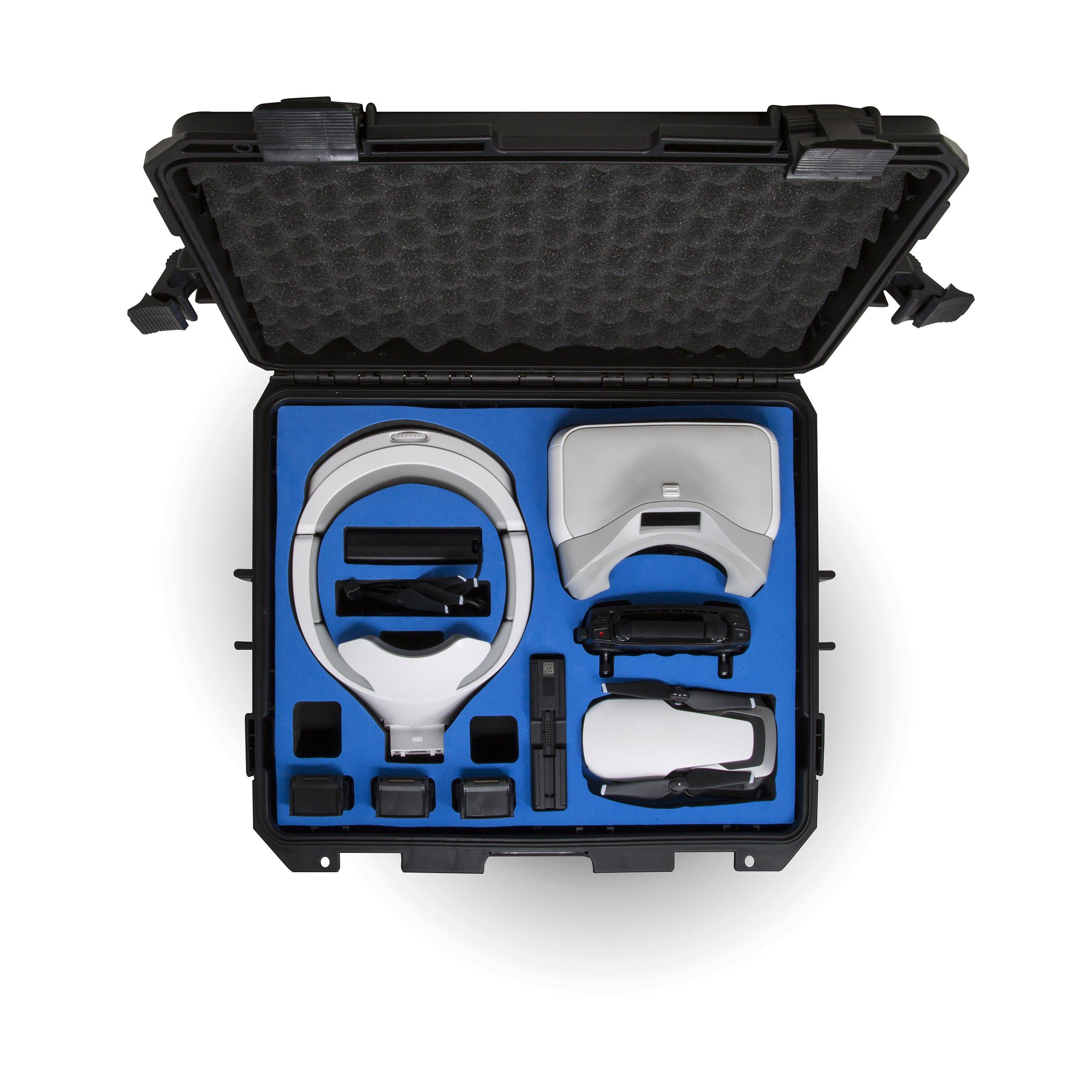 Ultimaxx Water Proof Rugged Compact Storage Hard Case for DJI FPV VR Goggles and DJI Mavic Air + Fits Extra Accessories by Ultimaxx (Image #2)