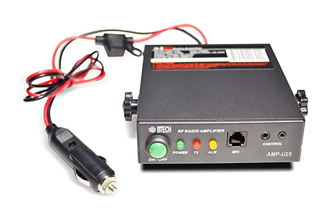 BTECH AMP-U25 Amplifier for UHF (400-480MHz), 20-40W Output (2-6W Input), on