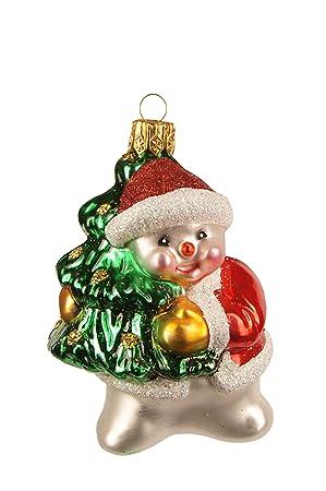 Christbaumschmuck Figuren Weihnachtsmann Mit Weihnachtsbaum 7 5cm