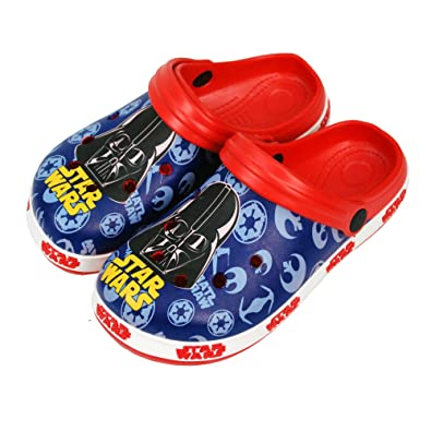 a4f7b218e779 Disney® Star Wars Official Children Kids Boys Sandals Swimming Pool Beach  Slippers Shoes UK Sizes (18months to 9years)  Amazon.co.uk  Shoes   Bags