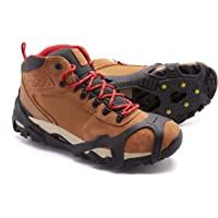 ICETRAX V3 Tungsten Winter Ice Grips for Shoes and Boots - Ice Cleats for Snow and Ice, StayON Toe, Reflective Heel