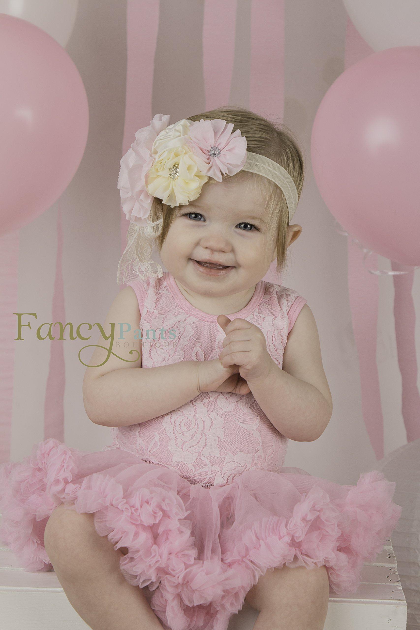 2 pc Set Baby Girl tutu dress and headband by Fancy Pants Company