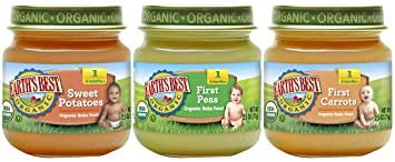 Earth's Best Organic Stage 1 Baby Food, My First Veggies Variety Pack, 2.5  oz