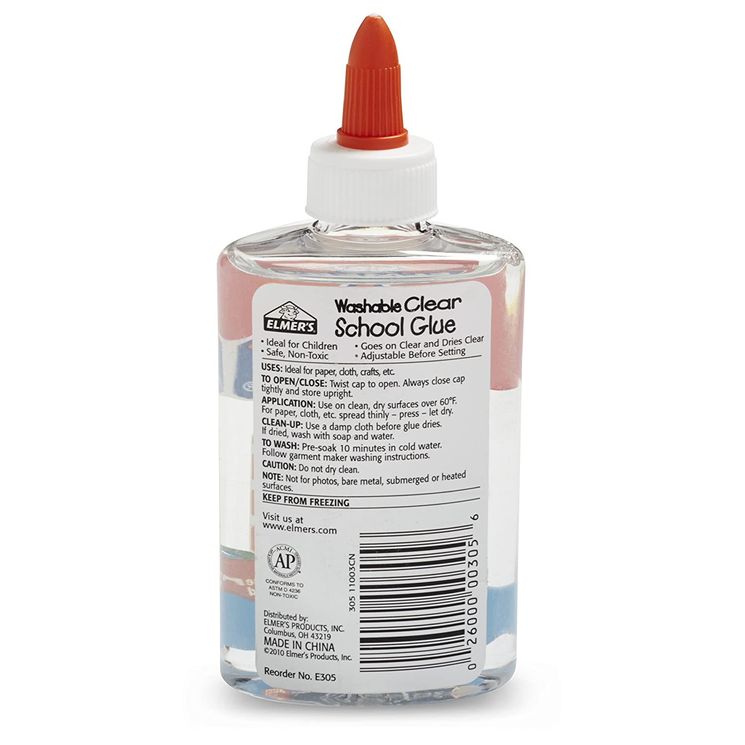 Amazon : Elmer's Liquid School Glue, Clear, Washable, 5 Ounces, 1 Count  : General Purpose Glues : Office Products