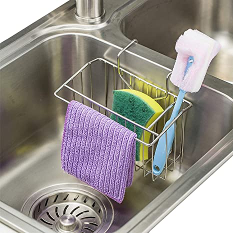Superbe Image Unavailable. Image Not Available For. Color: Sponge Holder For Kitchen  Sink. WORTOOL   Stainless Steel ...