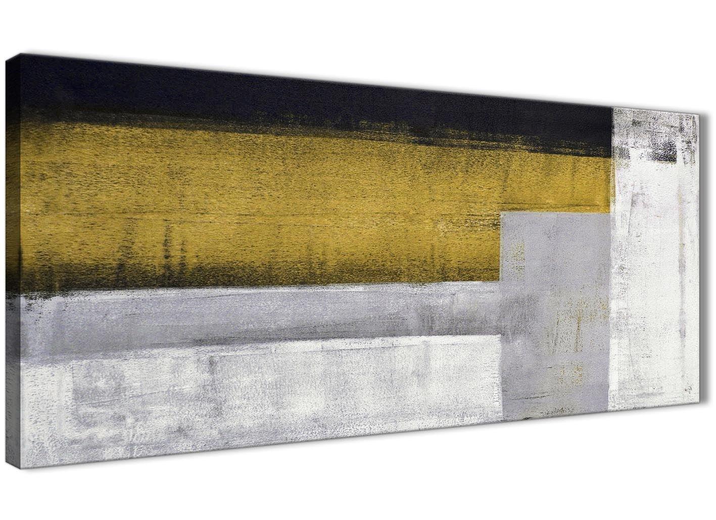 40% de descuento Wallfillers WTD - Lienzo Decorativo (Marco (Marco (Marco de 1425 a 120 cm, se Puede inverdeir lateralmente), diseño de Mostaza, Color Amarillo y gris  gran descuento