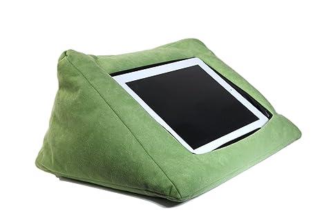 Soporte de cojín compatible con iPad (verde) apto para todos los dispositivos de tableta. Perfecto para usar alrededor de la casa para una cómoda ...