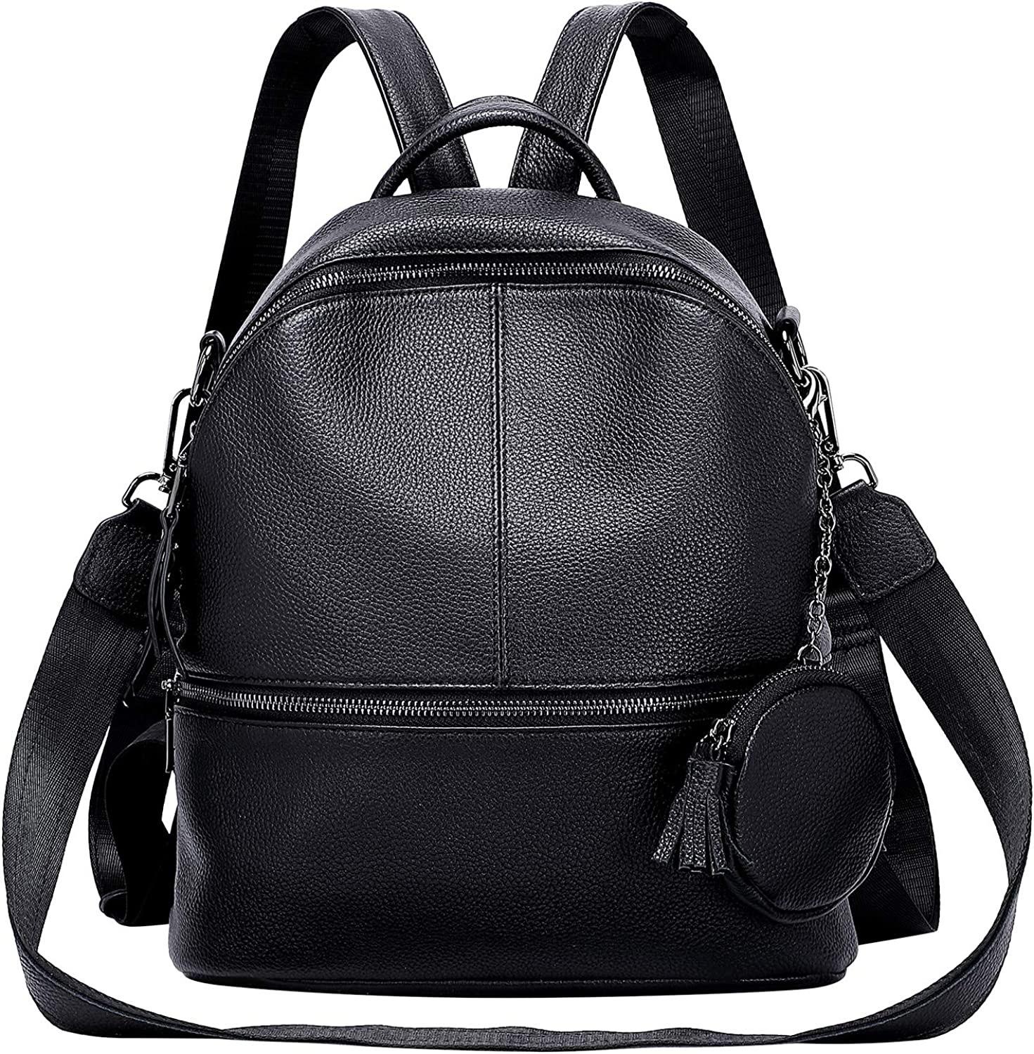 ALTOSY Genuine Leather Backpack Purse for Women Fashion Convertible Shoulder Bag with Coin Purse