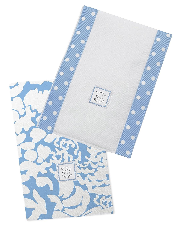 SwaddleDesigns Pa/ños de Beb/é Set de 2 Lush Azul