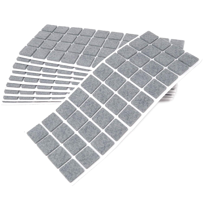 Adsamm/® 63 x Feltrini 30x30 mm//grigio//quadrati//Piedini mobili in feltro autoadesivo di 3.5 mm di spessore di alta qualit/à